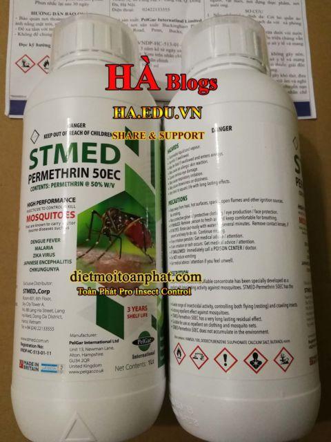Đại lý thuốc diệt muỗi STMED PERMETHRIN 50EC