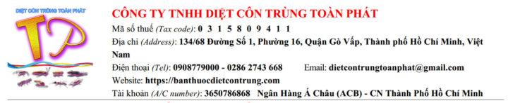 Công ty TNHH Diệt Côn Trùng Toàn Phát